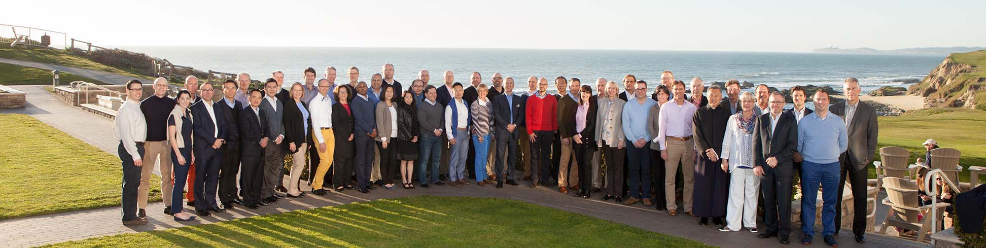 group photo at a conference